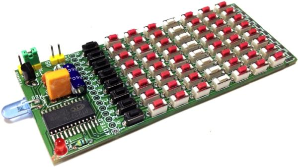 64 Key Infrared Remote Controller using PT2222M – NEC Code
