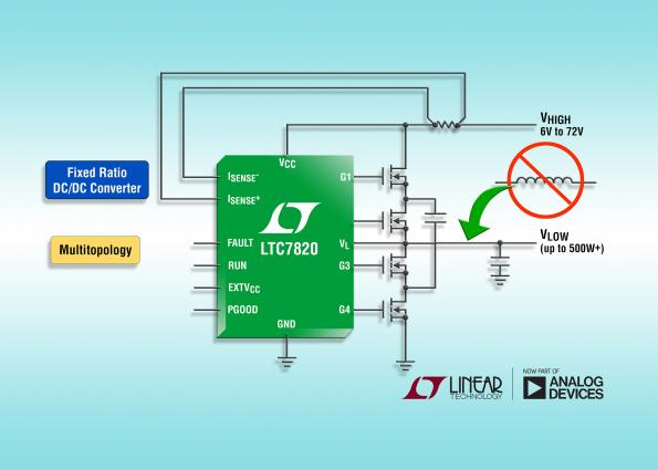 Linear applies switched-capacitor step-down topology for inductor-less DC DC