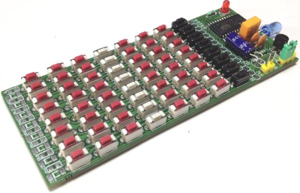 64 KEY INFRARED REMOTE CONTROLLER USING PT2222M – NEC CODE 4