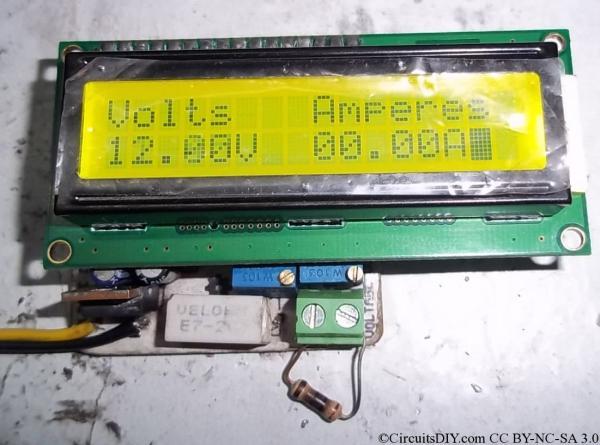 Atmega8 based Voltmeter Ampmeter v2