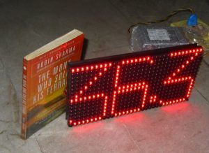 LED Dot Matrix Room Temperature Display using P10 and ATmega8