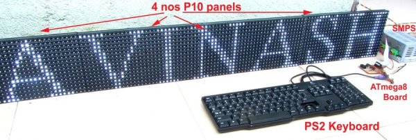 Making a LED Message Display with Keyboard Interface