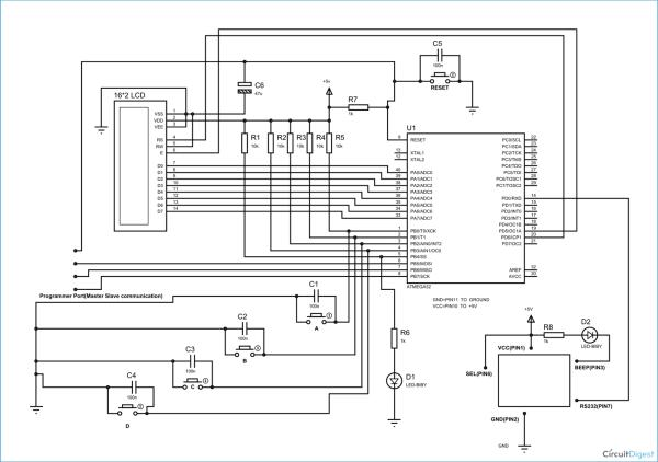 RFID Based Toll Collection System Schematic