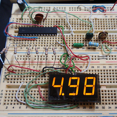 The simplest digital voltmeter with AVR