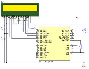 How to work with the ADC unit of an AVR Micro-controller schematics