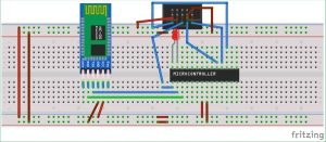 Interfacing HC-05 Bluetooth module with AVR Microcontroller schematics