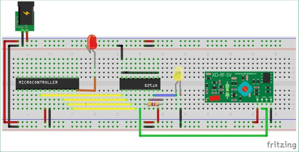 Interfacing RF module with Atmega8: Communication between