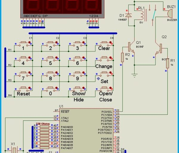 Keypad Door Lock using AVR Microcontroller – Atmega16