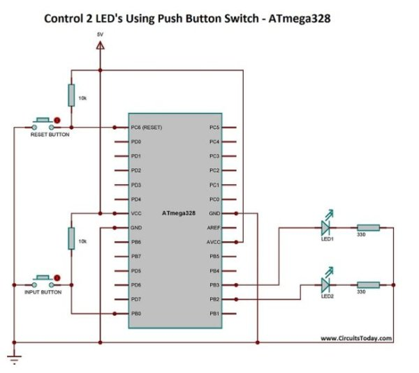 Simple Led Projects Using Avr Microcontroller Atmega32 Avr