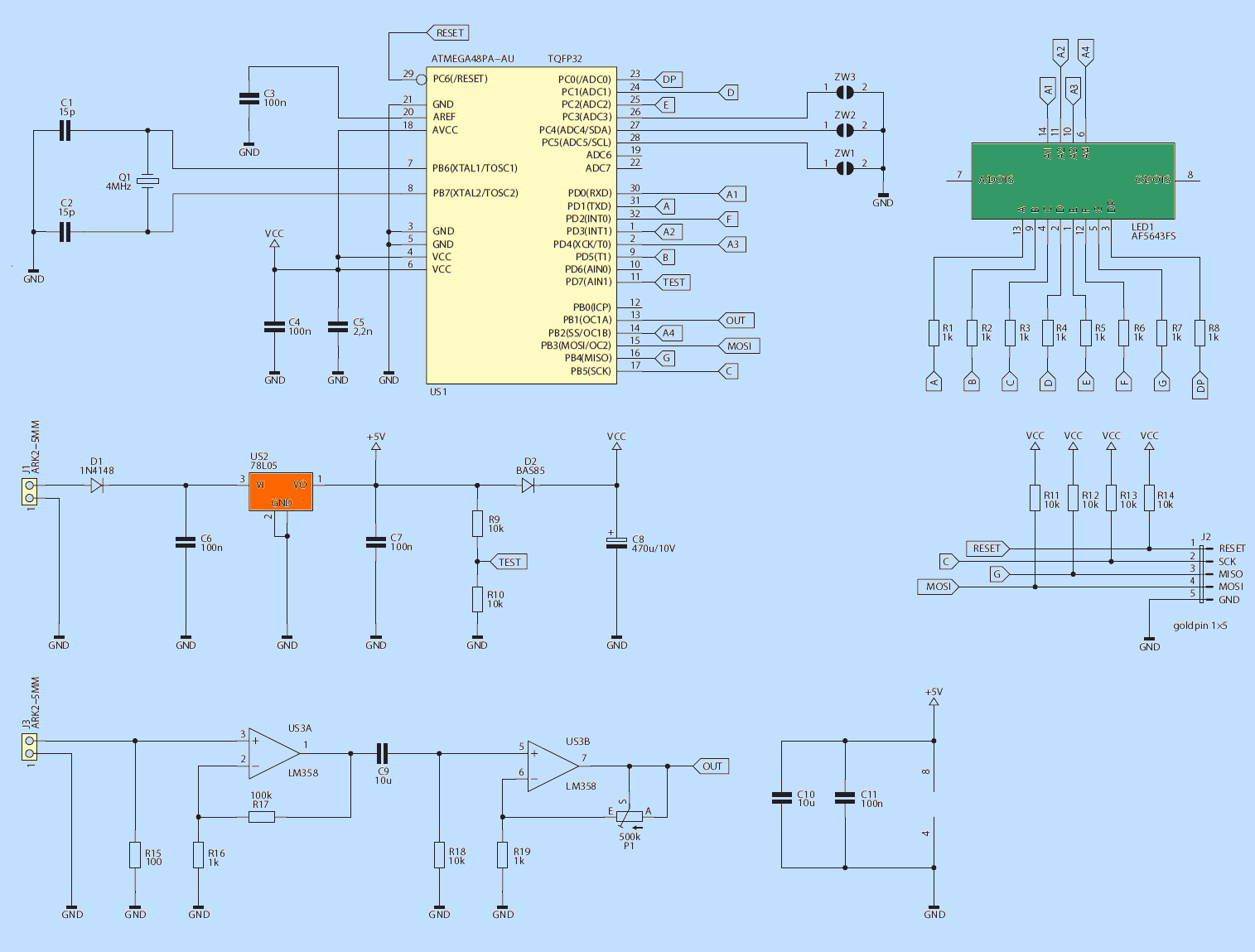 ATMEGA48 ASM-010 SCHEMATIC DIAGRAM