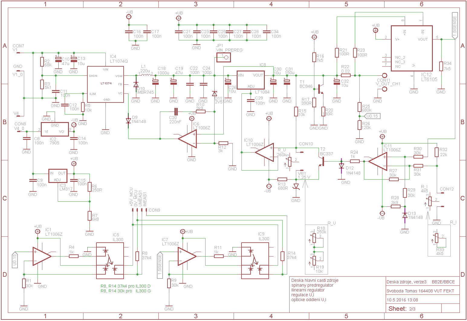 LABORATORY POWER SUPPLY CIRCUIT SCHEMATIC