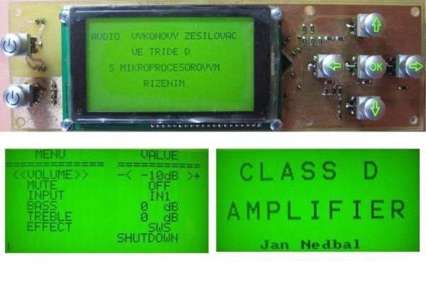 atmega128 class d circuit control