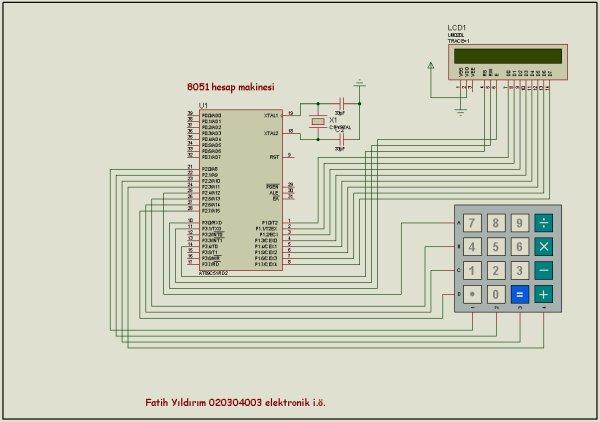 8051 CALCULATOR SCHMEATIC