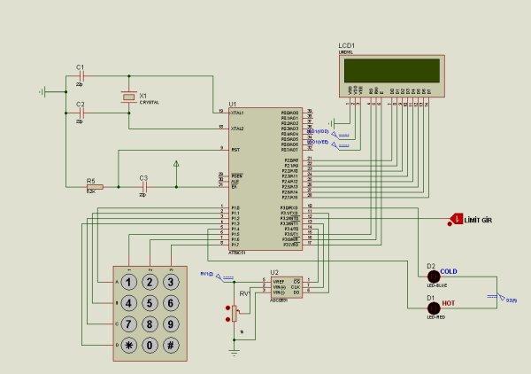 8051 TEMPERATURE CONTROL