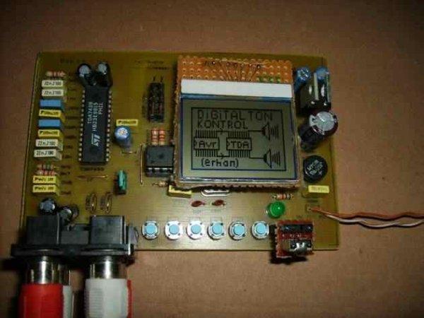 ATMEGA8 DIGITAL AUDIO CONTROL TDA7439 CIRCUIT