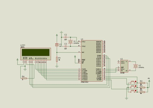 DIGITAL CLOCK SCHEMATIC