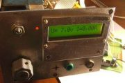 ADC EXAMPLE ATMEGA8 DIGITAL VOLT METER AMMETER AVR PROJECT
