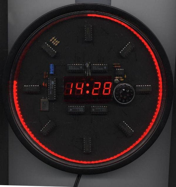 MICROPROCESSOR AT89C2051 LED CLOCK WITH ALARM