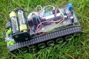 TANK ROBOT ATMEGA48 BLUETOOTH JAVA PROJECT