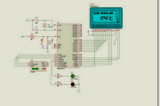 AT89S52 DS1620 THERMOMETER CIRCUIT (LCD DISPLAY)