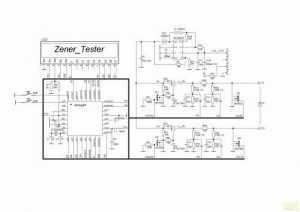 ZENER DIODE TEST CIRCUIT schamatic