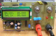 3-20V 01-10A POWER SUPPLY CIRCUIT ATMEGA8 LCD AMMETER, VOLTMETER