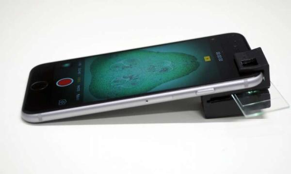 3D PRINTED CLIP-ON TURNS ANY SMARTPHONE TO A HOUSEHOLD MICROSCOPE.