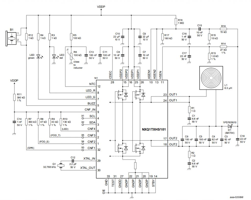 USING NXP'S NXQ1TXH5 QI CHARGING CIRCUIT