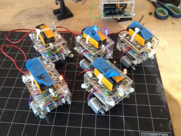 BristleSwarm Explorations into Swarm Robotics