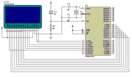 GRAPHIC LCD ANIMATED BMP SCHEMATIC