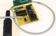 KEYBOARD SPY CIRCUIT WITH ATMEL ATMEGA8