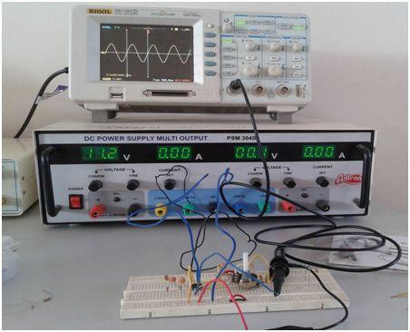Sine wave oscillator using LM741