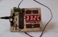 AT89S52 THERMISTOR CIRCUIT THERMOMETER LCD DISPLAY