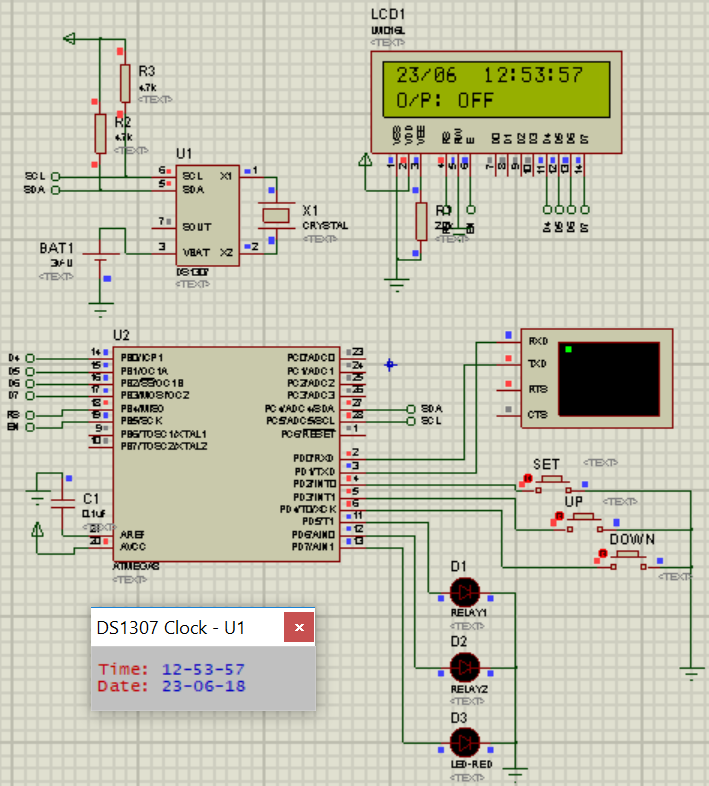 Proteus simulation based avr projects