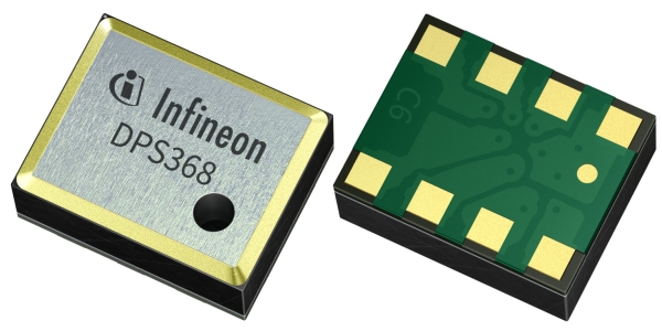ULTRA-SMALL BAROMETRIC PRESSURE SENSOR DPS368 FROM INFINEON IS PROTECTED AGAINST WATER DUST & HUMIDITY