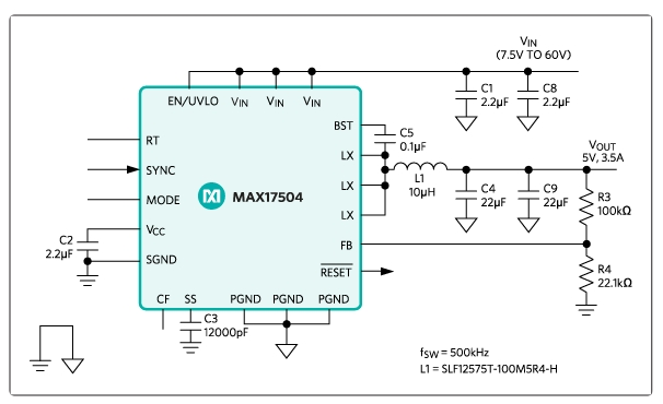 3.3V 3A, WIDE-INPUT, SYNCHRONOUS, STEP-DOWN DC-DC REFERENCE DESIGN