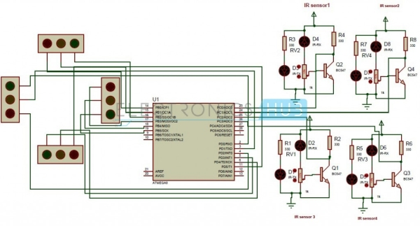 Density-Based-Traffic-Signal-System-Circuit-Diagram