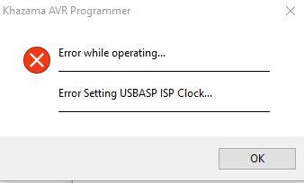 Firmware Upgrade for USBASP Clone - Fixing Error Setting USBASP ISP Clock