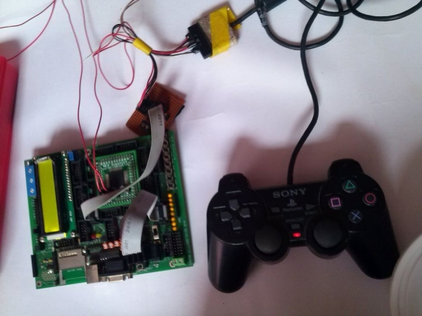 Interfacing PS2 Controller With AVR -Bit Bang