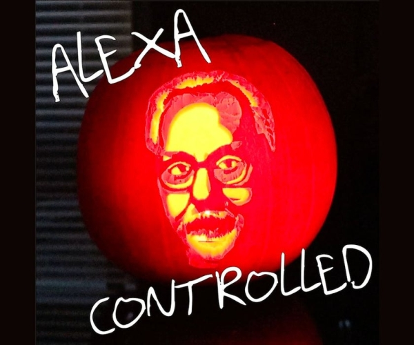 Alexa-controlled Adam Savage Pumpkin