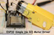 ESP32: DIY Motor Driver With ESP32 Controller