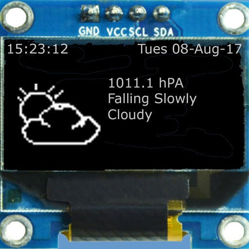 ESP32 ESP8266 Weather Forecaster Predictor