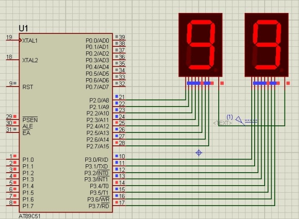 How to Count From 0 to 99 Using 8051 Microcontroller With 7 Segment Display
