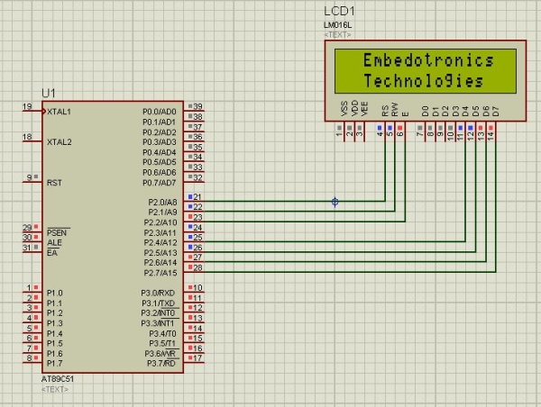 Interfacing 8051 Microcontroller With Lcd in 4-bit Mode