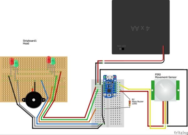 Small Motion Sensing Tin Robot