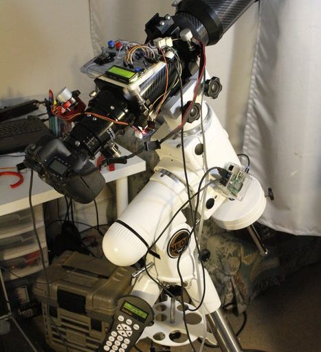 Wifi-controlled Telescope+DSLR With Motorized Focuser